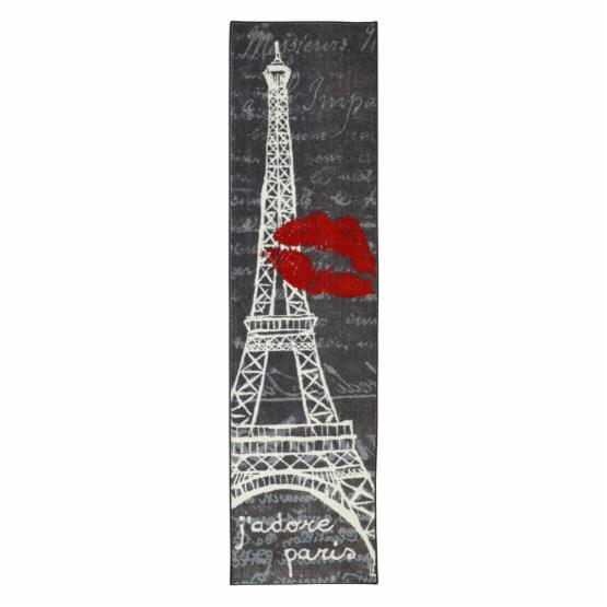 Mohawk Home Aurora Pairs Love Eiffel Tower Indoor Area Rug - 2L x 8W ft.