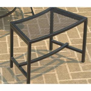 CobraCo Black Bravo 21.85 in. Mesh Fire Pit Backless Bench