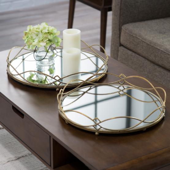 Rockdale Mirrored Tray - Set of 2