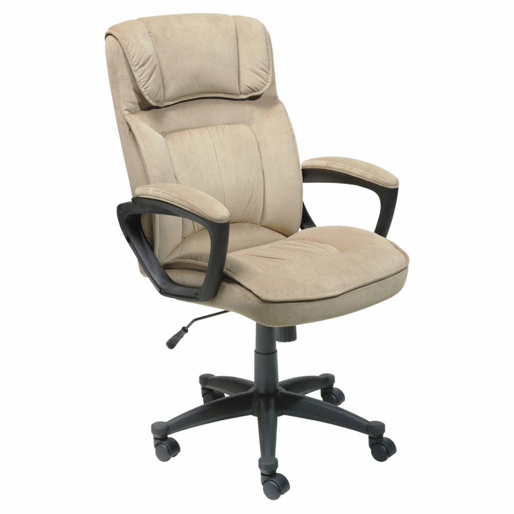 Image Is Loading Serta Microfiber Executive Office Chair Light Beige
