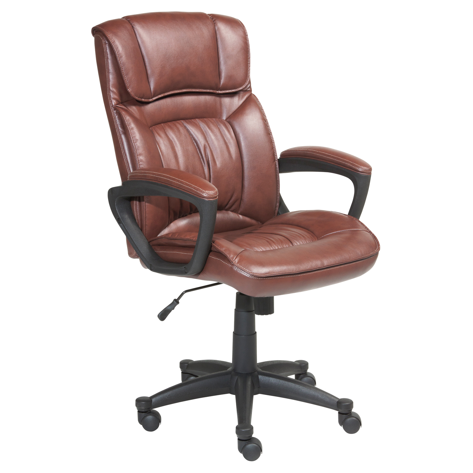leather desk chairs serta puresoft faux leather executive office chair 134