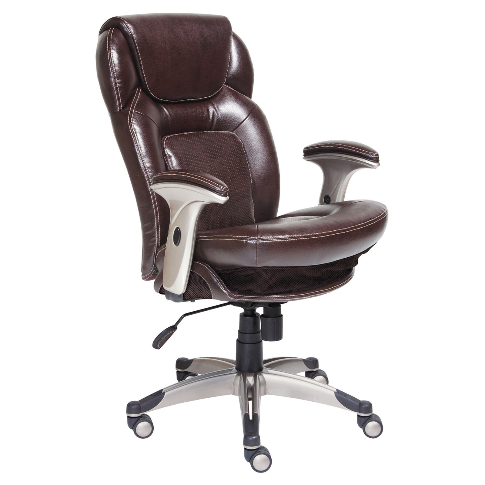 Serta Bonded Leather Ergo Executive fice Chair Black