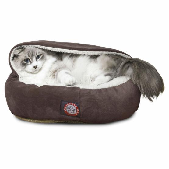 Majestic Pet Suede 18 in. Canopy Cat Bed