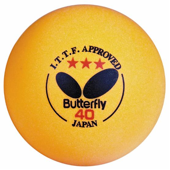 Butterfly 3 Star Orange Table Tennis Balls - 144 Pack