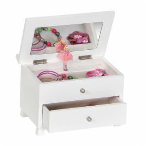 Emmy Girls Wooden Musical Ballerina Jewelry Box - 8.5L x 5.13W in.