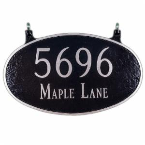 Two Sided Large Oval 2-Line Address Plaque