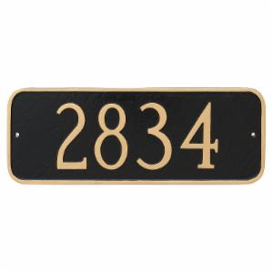 Montague Metal Rectangle Address Sign Wall Plaque