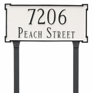 Montague Metal New Yorker Standard Two Line Address Sign Lawn Plaque