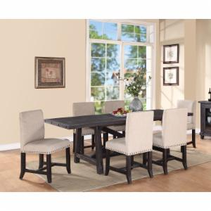 Modus Yosemite 7 Piece Rectangular Dining Table Set with Upholstered Chairs