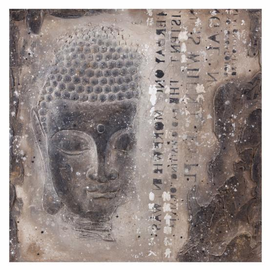 Moe's Home Collection Subtle Buddha II Hand Painted Wall Art - 39W x 39H in.