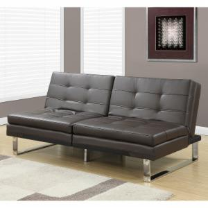 Monarch Specialties Split Back Futon with Square Track Legs