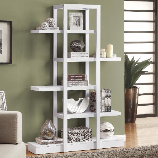 Monarch 71 in. Open Concept Display Etagere - White