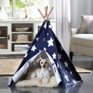 Merry Products Stars Printed Pet Teepee