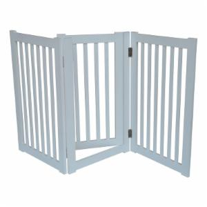Merske Free Standing Pet Gate - White