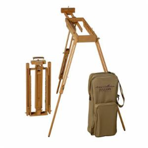 Jullian Rexy French Watercolor Easel with Paint Box and Strapped Canvas Bag Included