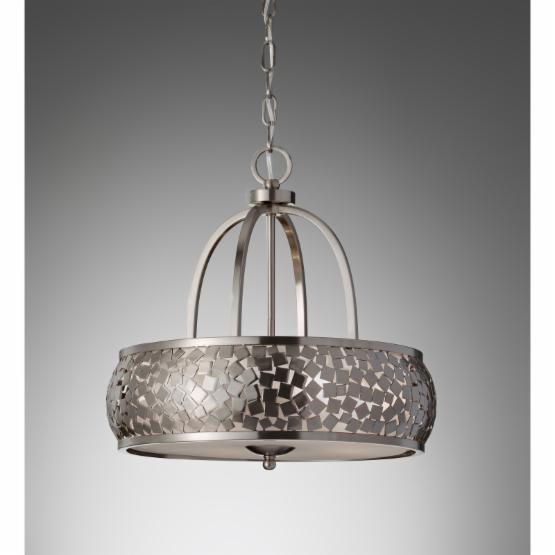 Feiss Zara F2737 / 4BS Chandelier - 19W in. - Brushed Steel