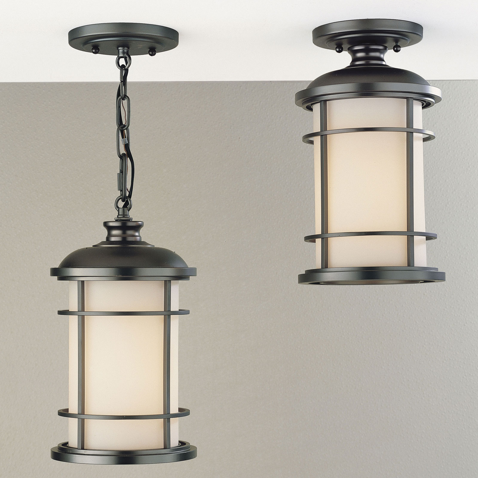 Feiss Lighthouse Outdoor Hanging/Ceiling Light   12.5H In. Burnished Bronze
