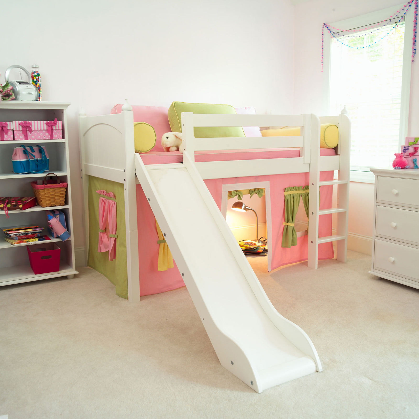 Bunk beds with slide and tent - Cottage Standard Low Loft Tent Bed Bunk Beds Loft Beds At Hayneedle