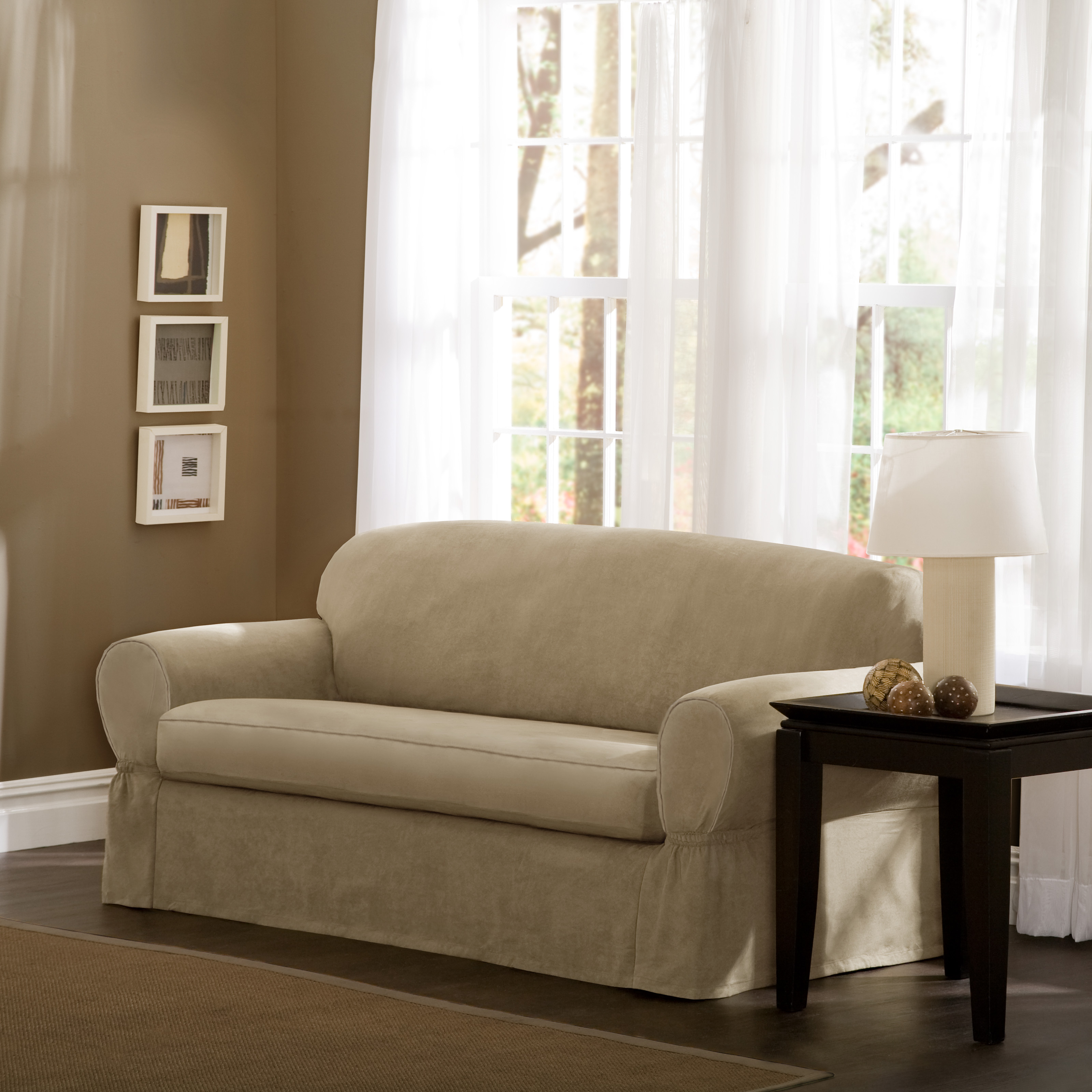 Sure Fit Stretch Jacquard Damask Sofa Cover