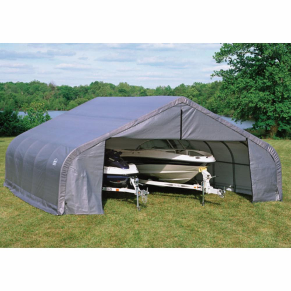 Portable Rv Canopy Lean To : Shelterlogic ft double wide canopy carport