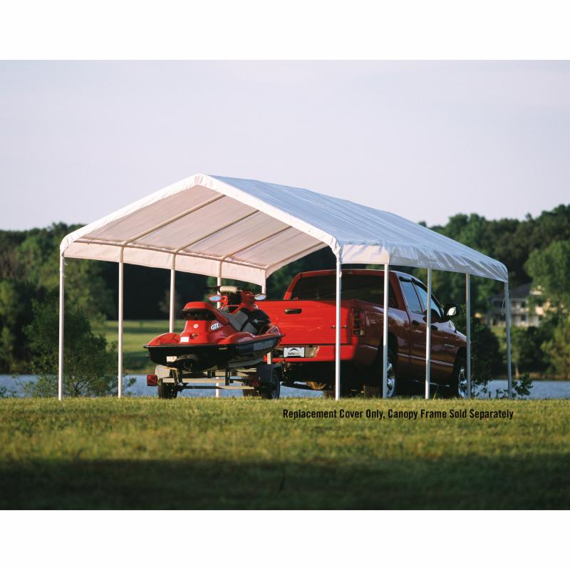 ShelterLogic 12 x 26 ft. Canopy Replacement Cover for 2 in. Frame - 10059