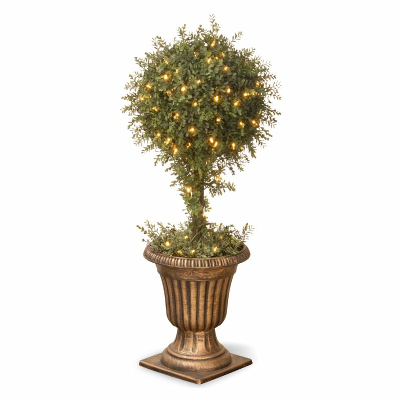 National Tree 36 In Lighted Mini Topiary With Urn Ltlm