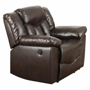 NH Designs Bonded Leather Recliner Brown