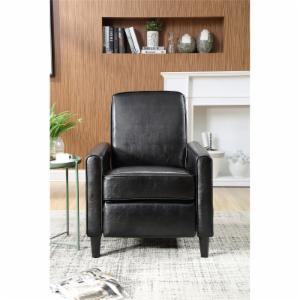 NH Designs Push Back Faux Leather Recliner