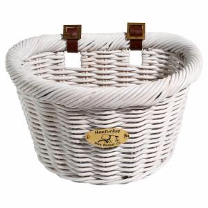 Nantucket Bike Basket Co. Cruiser Adult D-Shape Basket - White