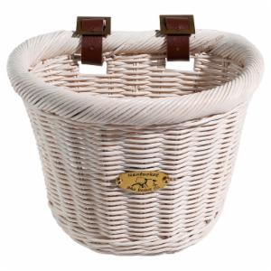 Nantucket Bike Basket Co. Cruiser Child D-Shape Basket - White