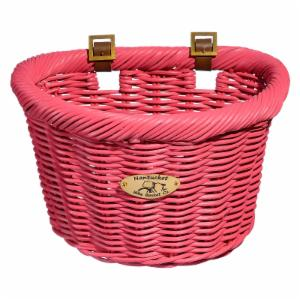Nantucket Bike Basket Co. Cruiser Adult D-Shape Basket - Pink