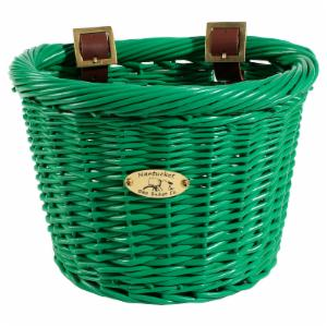 Nantucket Bike Basket Co. Gull & Buoy Child D-Shape Basket - Green
