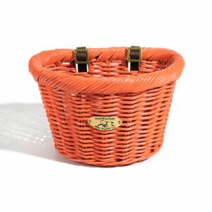 Nantucket Bike Basket Co. Cruiser Adult D-Shape Basket - Carrot