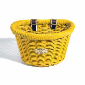 Nantucket Bike Basket Co. Cruiser Adult D-Shape Basket - Sunflower