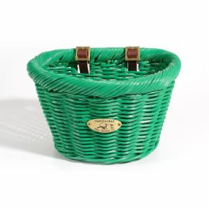 Nantucket Bike Basket Co. Cruiser Adult D-Shape Basket - Emerald