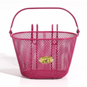 Nantucket Bike Basket Co. Surfside Child Mesh Wire Basket - Pink