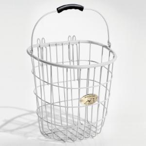 Nantucket Bike Basket Co. Surfside Rear Wire Pannier Basket - White