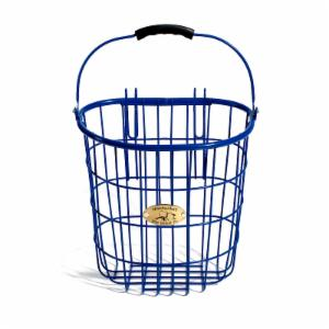 Nantucket Bike Basket Co. Surfside Rear Wire Pannier Basket - Royal Blue