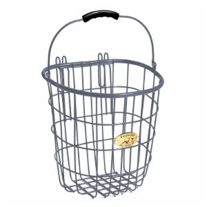 Nantucket Bike Basket Co. Surfside Rear Wire Pannier Basket - Charcoal Gray