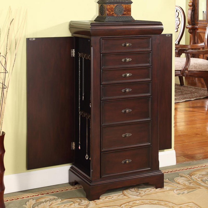 Cayman 7 Drawer Locking Jewelry Armoire Hayneedle