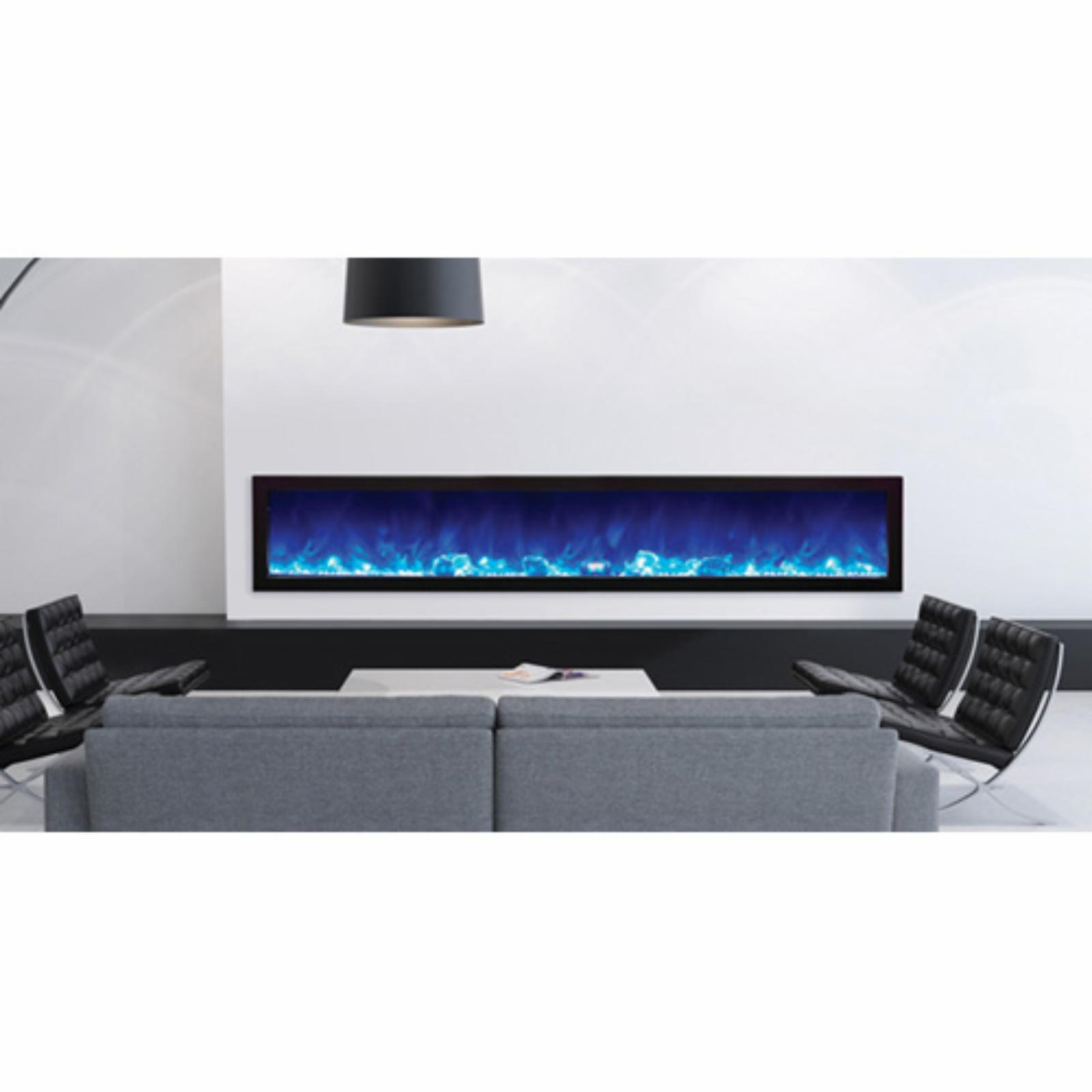 Amantii Panorama Slim Electric Wall Mount Fireplace with Black Surround - BI-40-SLIM