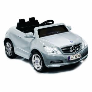 Kid Motorz Mercedes Benz E550 Car Battery Powered Riding Toy - Silver