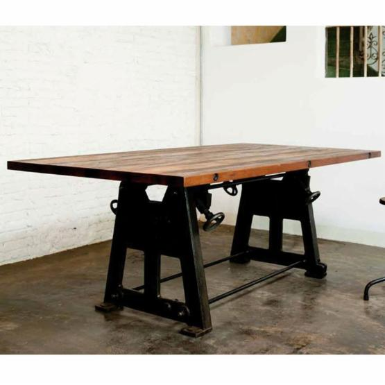 Nuevo V3 Press Leg Reclaimed Wood Top Dining Table