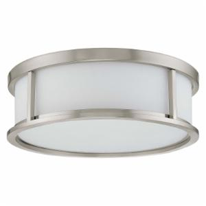 Nuvo Odeon 60/2862 3-Light Flush Dome - 15W in. - Brushed Nickel