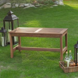 Coral Coast 3 ft. Outdoor Wood Backless Bench - Dark Brown