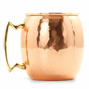 Old Dutch 16 oz. Hammered Copper Moscow Mule Mug - Set of 4