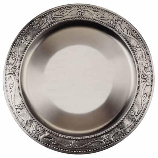 Old Dutch 13 in. Antique Embossed Victoria Charger Plates - Set of 6