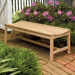 Oxford Garden Shorea Wood Backless Bench