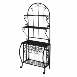 Oakland Living Baker Rack with Wine Holder