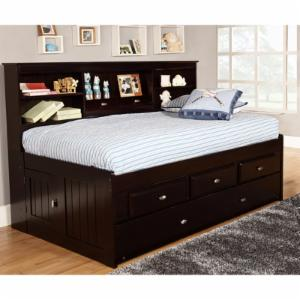 American Furniture Classics Daybed with 3 Drawers and Twin Trundle - Espresso